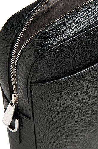 HUGO BOSS Laptop Umhängetasche Aktentasche (Schwarz) Black, Schwarz