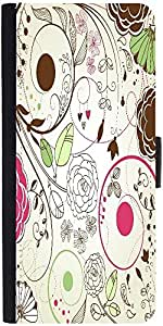 Snoogg retro floral backgroundDesigner Protective Flip Case Cover For Apple Iphone 6s
