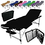 Vivezen  Table de massage pliante 3 zones en aluminium + Accessoires et...