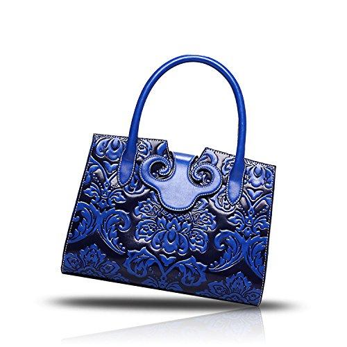 Sunas Borsa in rilievo dell'unità di elaborazione della borsa delle 2017 nuove ha impresso il raccoglitore della borsa superiore del sacchetto del messaggero della spalla blu