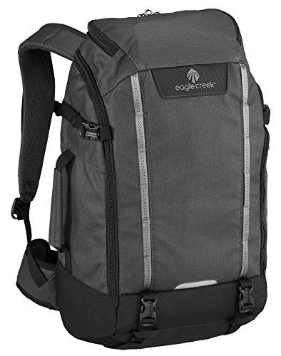Eagle Creek Laptop-Rucksack Mobile Office Backpack mit wasserabweisendem Material und Regenabdeckung, 54 cm, 25 L, Asphalt schwarz (Office-notebook Mobile)