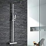 ZGL-Moderne Badewanne & Dusche Regendusche Verbreitete Handdusche inklusive Keramisches Ventil Zwei Löcher Zwei Griffe Zwei Löcher