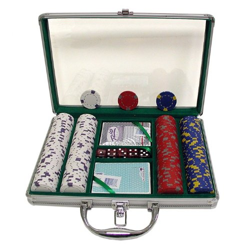 Trademark Poker 200 13 Gm Pro Clay Casino Chips with Clear Cover Aluminum Case