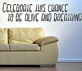 Feiern Diese Chance zu leben und Atmen???Love Home Live Life Familie zusammen Kids Funny Zitat Wand Stikers, inspirierendes Zitat, Motivation Aufkleber Wand Zitat Aufkleber Aufkleber Wand Kunst, Familie Fun Zitat Love Home
