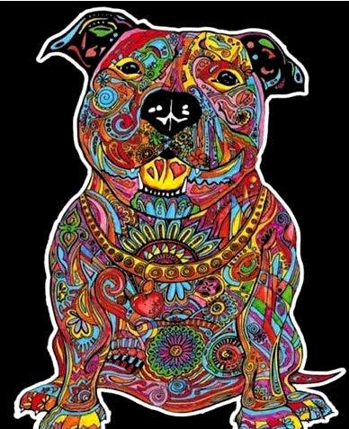Terciopelo colorvelvet de 47x35 cm para colorear con caja de rotuladores - Pit Bull