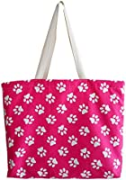 """Strandtasche/Einkaufstasche/Freizeittasche""""GUAU"""" - 48x35x10cm - 100% Baumwolle - geeignet für die Waschmaschine - Handgefertigt in Barcelona"""