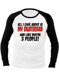 Fun Care About My Skateboard 702371 Longsleeve Raglan