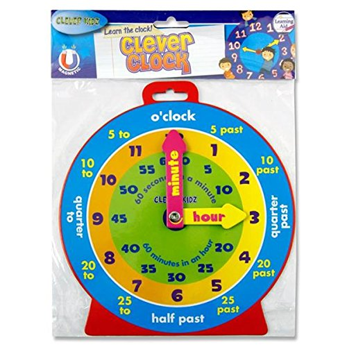Premier Stationery 54992 Clever Kids Magnetic Clock