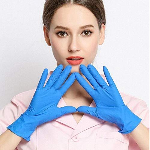 Oulensy 20pcs Universal-Einweghandschuhe NBR Gummi Putzhandschuh Garten-Handschuhe Haushalts-Reinigungsmittel Lebensmittel Handschuhe