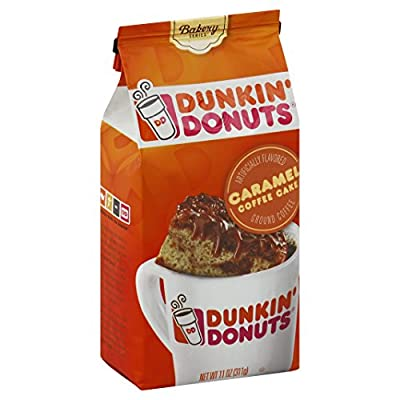 DUNKIN DONUTS BAKERY SERIES CARAMEL COFFEE CAKE FLAVOURED GROUND COFFEE 1 x 311g BAG AMERICAN IMPORT from J M SMUCKER COMPANY