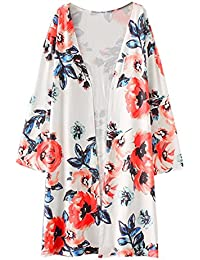 db461108e12d5 Crazy-Store Autumn Winter Women Kimono Cardigan Long Sleeve Floral Printed  Tops Blouse