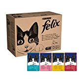 Felix Mixed Jelly and Gravy Cat Food Pouches, 80 x 100 g