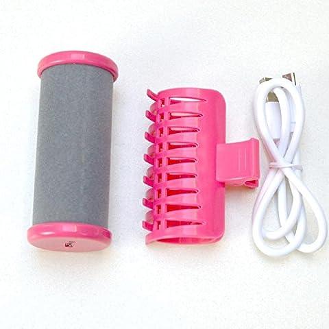 USB wiederaufladbare Wireless Curling Rohr Luft Pony Plastik Lockenwickler Mini elektrische Curling Stöcke einfach zu tragen , pink
