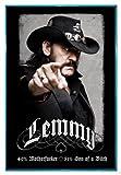 Close Up Motörhead Lemmy Kilmister Poster (94x63,5 cm) gerahmt in: Rahmen Türkis