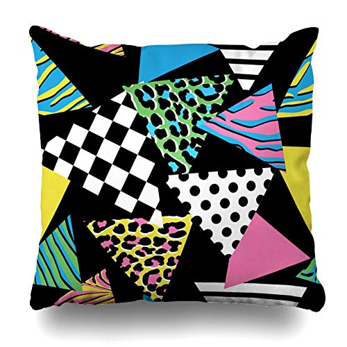 Pakaku - Funda Decorativa para sofá o Cama, 45,7 x 45,7 cm, diseño Abstracto de Lunares, Color Rosa