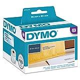 Dymo S0722410 LabelWriter Etichette per indirizzi autoadesive, 36 x 89 mm, 1rotolo da 260 pezzi, stampa nero su trasparente