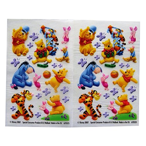 Winnie the Pooh & Friends - Coloré Créatif Transfert Autocollants - 2 Feuilles - par Disney