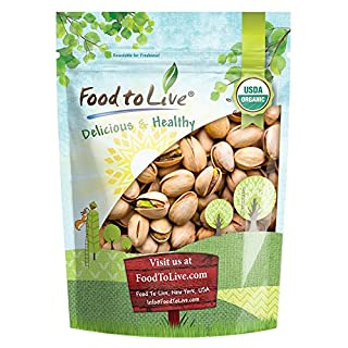 Food to Live Organic California Pistachios (in Shell, Roasted and Salted, Non-GMO, Kosher, Bulk) (1 Pound)