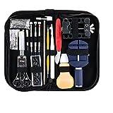 147 pcs Uhrenwerkzeug Set professionell Armbanduhr Reparatur Werkzeug Kit für öffnen Uhrenarmband/Uhr Fall, Einstellen Zurück Tisch, Batterie Wechsel Etc. Repair Watch Set mit Tragetasche