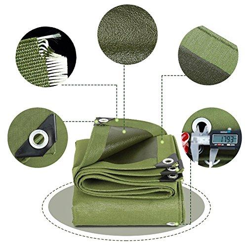 YY_9 Toile résistante imperméable de toile de bâche imperméable petite feuille verte de bâche de protection solaire de 3m anti-intempéries Splice-600G / M² (taille : 4 * 8m)