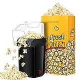 TOPELEK Popcornmaschine Heißluft Popcorn Maker Heißluftpopcornmaschine Imbiss;Öl ist nicht notwendig, Weites-Kaliber-Design mit Messbecher und abnehmbarem Deckel,mit 3 kostenlose Papiertüten.