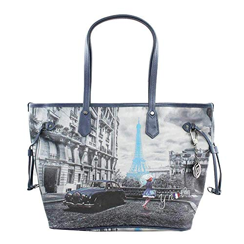 YNOT BORSA DONNA SHOPPING MEDIA BLUE RAIN K-319 4ee965f334b