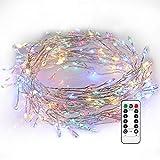Kupferdraht Lichterkette, GreenClick 200 LEDs Eiszapfen Lichterkette, Wasserdicht IPX7 mit Fernbedienung und Memory-Funktion, 8 Modi für Weihnachten Party Hochzeit Otudoor Deko