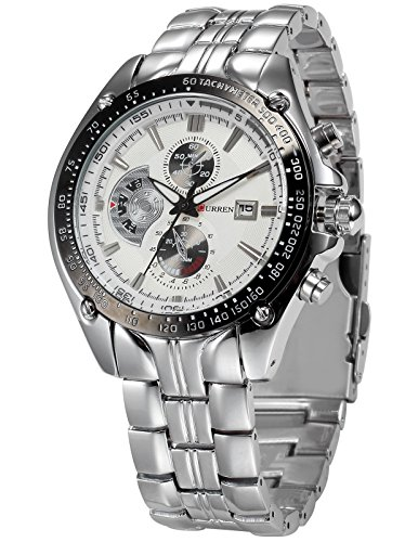 Curren Luxury Analogue White Dial Men's Watch CUR023