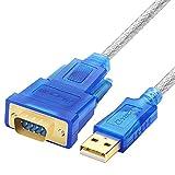 venel USB 2.0zu RS232DB9Serial Adapter-Kabel 5,0m mit CD/FTDI Chipsatz/Unterstützung 98/ME/2000/2003/2008/Andoid/XP/WIN788.110//Mac OS/Linux