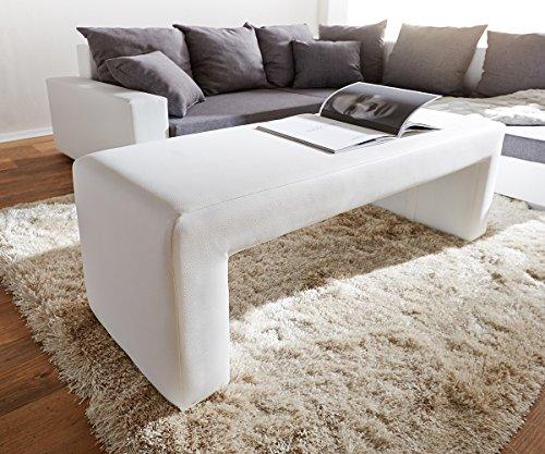 DELIFE Bank Otello Weiss 120x45 cm Sitzbank gepolstert