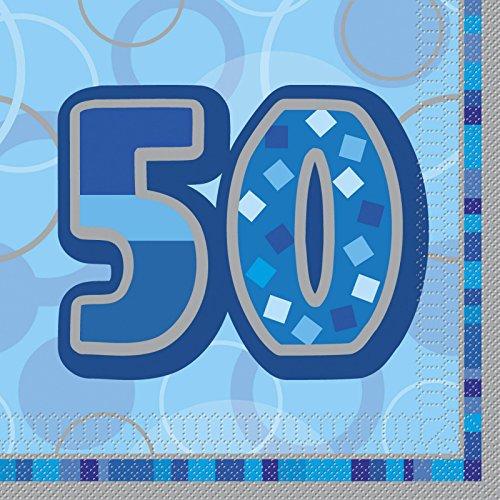 0 Geburtstag Servietten (Packung mit 16) (50 Geburtstag-servietten)