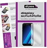 dipos I 2X Schutzfolie klar kompatibel mit Samsung Galaxy A3 (2017) Folie Displayschutzfolie