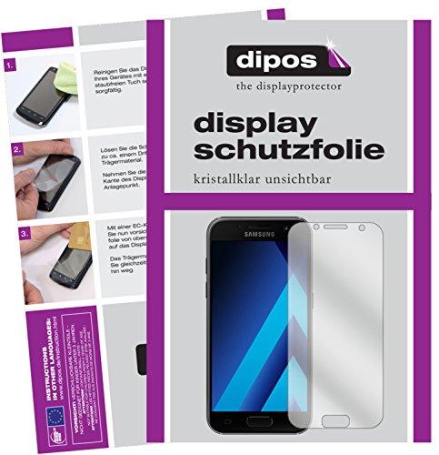 dipos I 2X Schutzfolie klar passend für Samsung Galaxy A3 (2017) Folie Displayschutzfolie