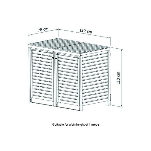Bentley Garden – Tannenholz – Für 2 Tonnen – Für den Außenbereich - 5
