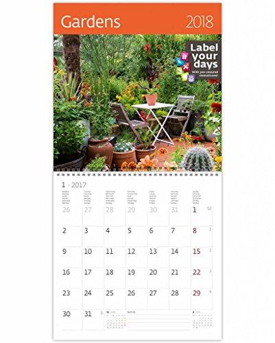 CA11-18 Kalpa 2018 Wall Calendar Gardens 2018 Calendars Collection 30 x 30 cm