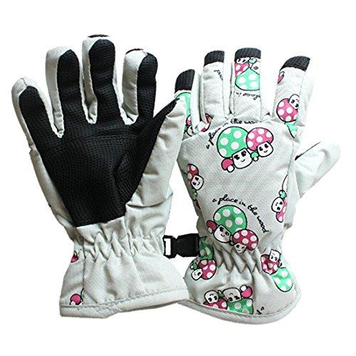Ski Handschuhe - TOOGOO(R) Paar Anti Rutsch 2-4 Jahre Kinder Ski Skaten Handschuhe(Weiss Monat)