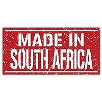 SkyBug Made In South Africa Grunge Bumper Sticker Vinyl Art Decal for Car Truck Van Window Bike Laptop