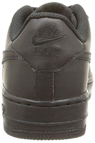 Nike  AIR FORCE 1 (GS), Sneakers Basses mixte enfant Noir (Black/Black-Black)