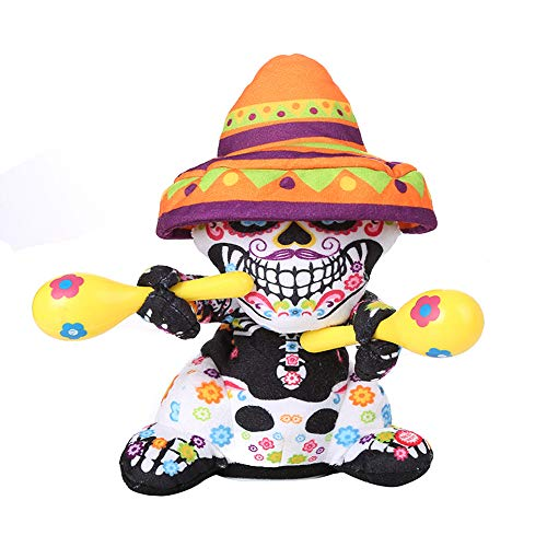 Halloween skull zombie doll -  with shakers can twist, sing and dance - H.eternal  Happy Animated Party Decoration Toy (Not included batteries) (B) - 30cm 11""
