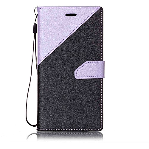 Huawei Y6 II Huawei Honor 5A Wallet Case, casefirst [ Folio Style ] Premium Huawei Y6 II Huawei Honor 5A Card Cases STAND Feature for Huawei Y6 II Huawei Honor 5A [Light Purple + Black ]Leather Cases Flip Cover with Leather Cases (Switch Custom Light)