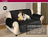 WYN123 Coussin de canapé pour Animaux de Compagnie Anti-dérapant, imperméable et Anti-dérapant pour Animaux de Compagnie, Noir, 167cm x 190cm