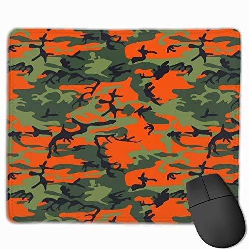Mobile Camo (Deglogse Gaming-Mauspad-Matte, Smooth Mouse Pad Orange Camo Mobile Gaming Mousepad Work Mouse Pad Office Pad)