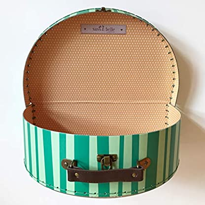 Sass-and-Belle-Koffer-Melone-Wassermelone-KinderkofferPuppenkofferAufbewahrungsbox-Pappkoffer-2-Verschiedene-Gren
