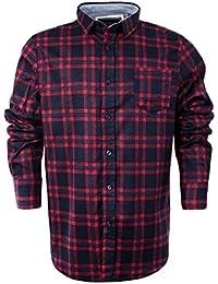 Chemise à manches longues pour homme Brave Soul en flanelle de coton brossé à carreaux style bûcheron XL