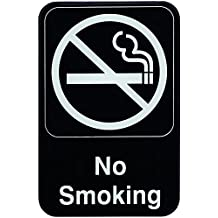Update International S69-3BK 6 in. x 9 in. No Smoking Sign