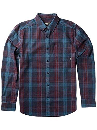 Herren Hemd lang Nixon Steven Shirt LS Crimson