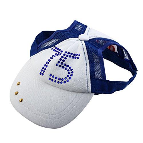 Artikelbild: sourcingmap® Baumwolle Größe XL Kristall Visier Hut Cap für Hund Haustier