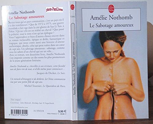 Le Sabotage Amoureux par Amélie NOTHOMB