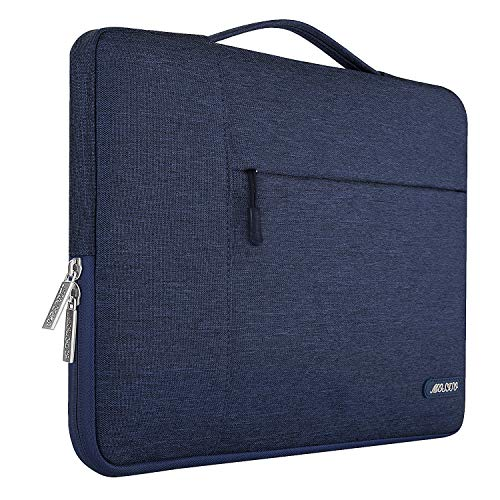 3c0ddeb272e6a MOSISO Polyester Fabric Multifunctional Laptop Briefcase Handbag Compatible  15-15.6 Inch MacBook Pro Notebook