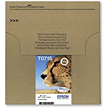 Epson Cheetah T0715 DURABrite Ultra Ink Easy Mail Cartridges - Pack of 4